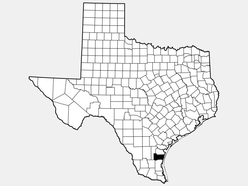 Kleberg County location map