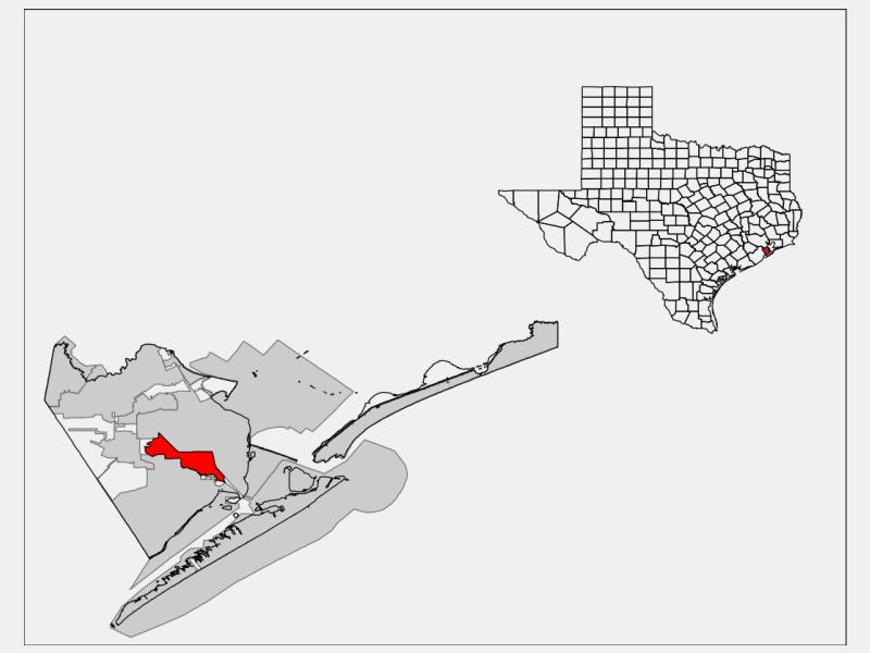 La Marque locator map