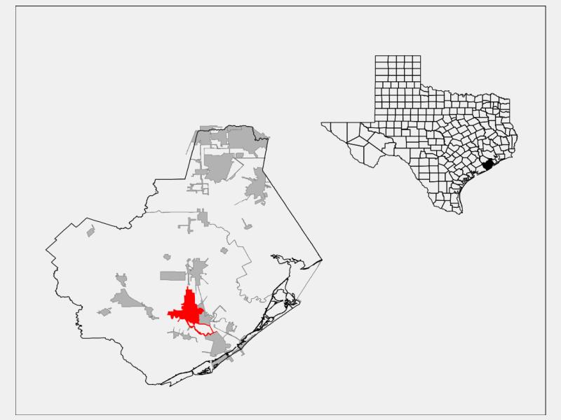 Lake Jackson locator map