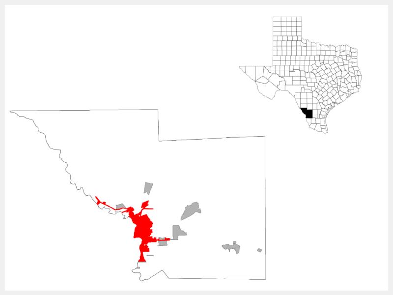 Laredo, TX locator map