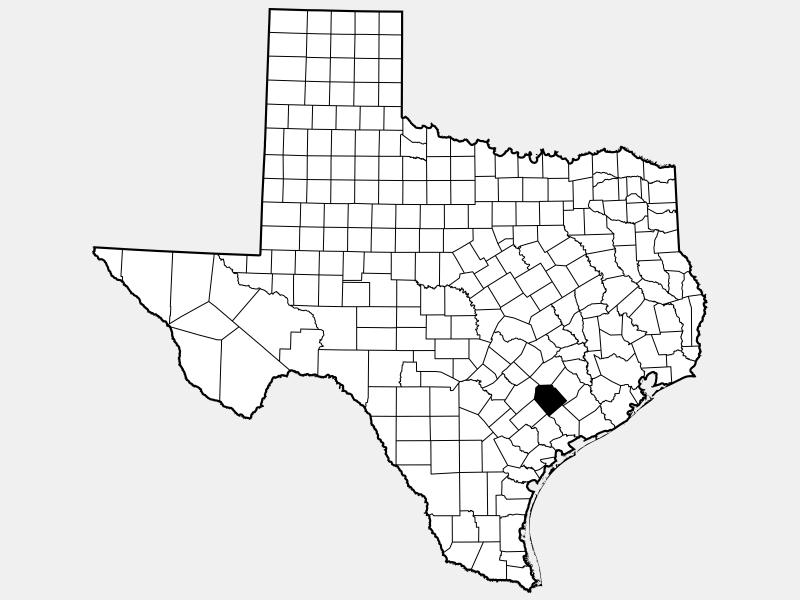 Lavaca County locator map