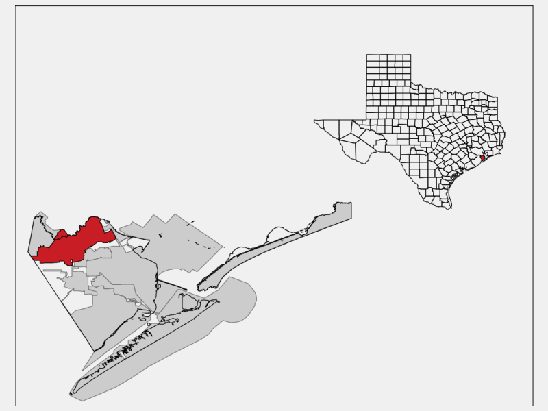 League City locator map