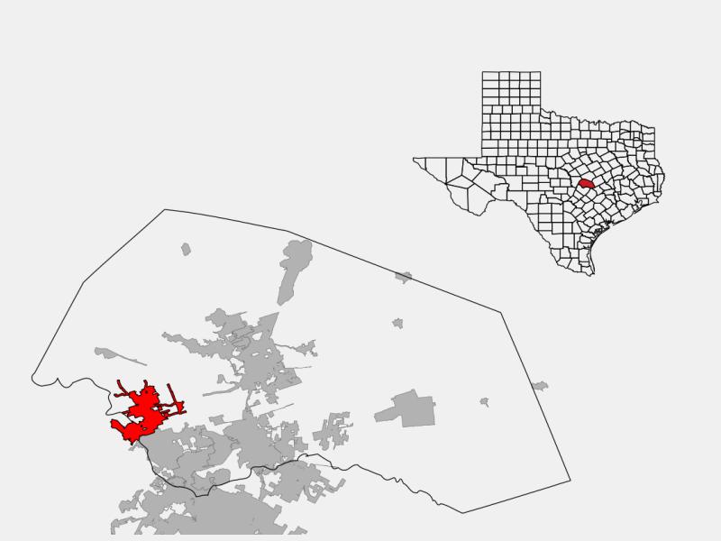 Leander, TX locator map