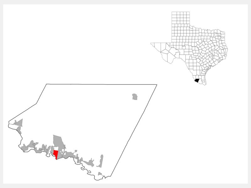 Los Alvarez, TX locator map
