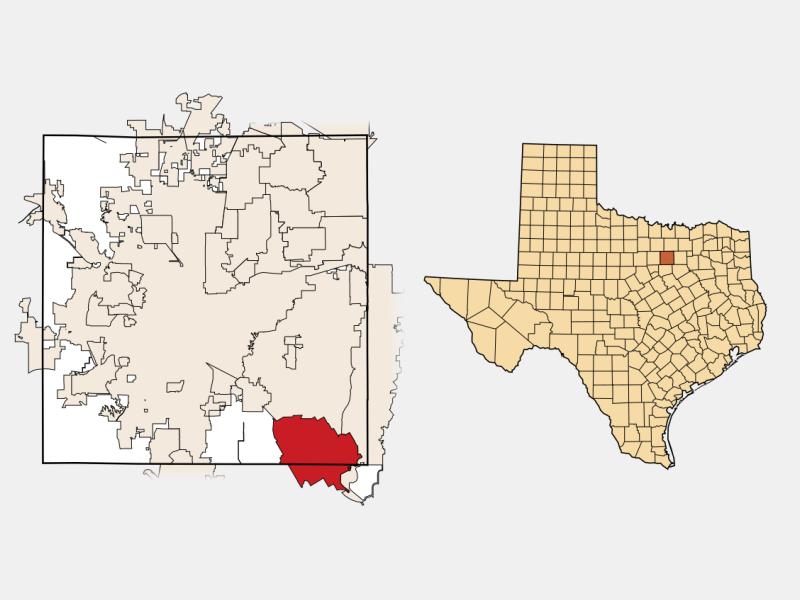 Mansfield, TX locator map