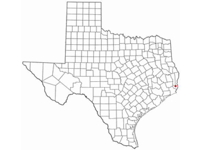 Mauriceville locator map