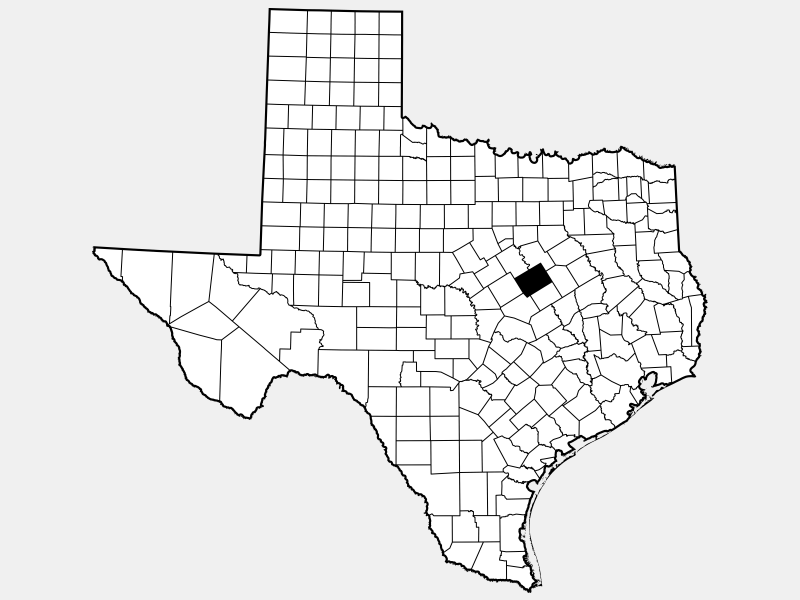 McLennan County locator map