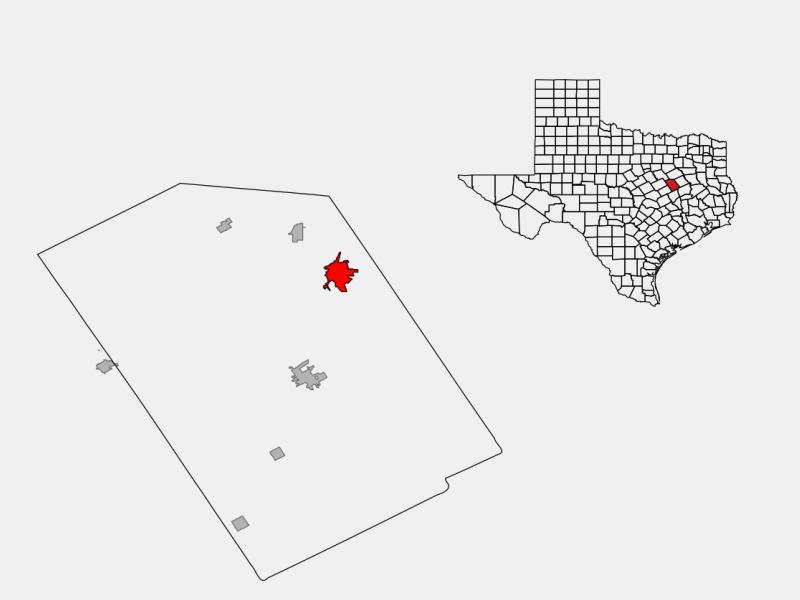Mexia locator map