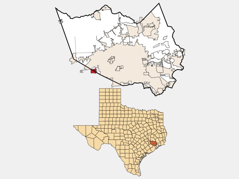 Mission Bend locator map