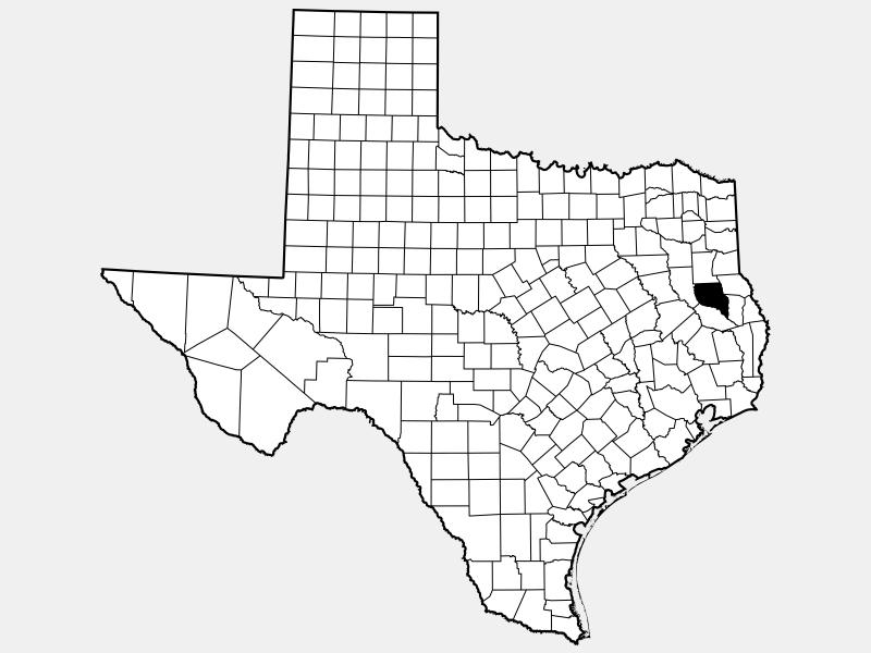 Nacogdoches County locator map