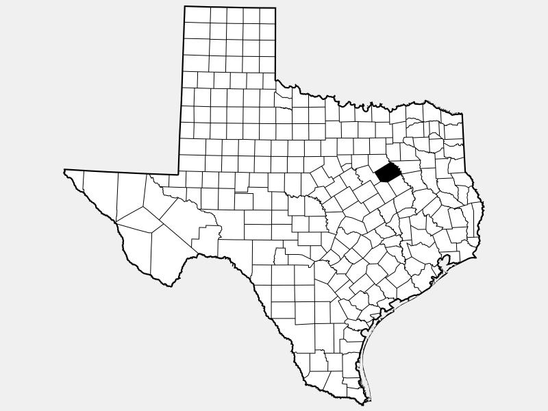 Navarro County locator map