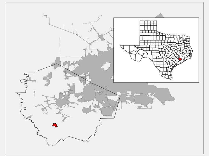 Needville locator map