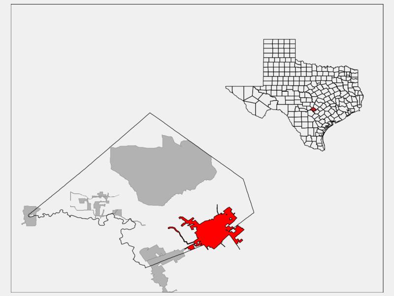 New Braunfels, TX locator map