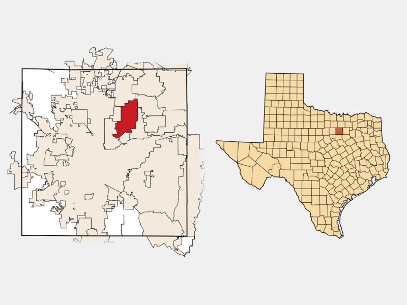 North Richland Hills, TX locator map