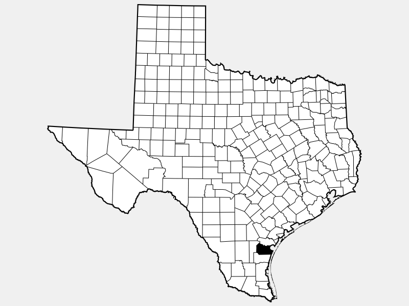 Nueces County, TX locator map