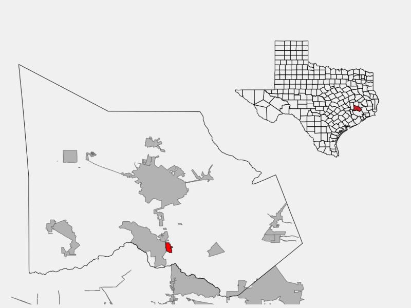 Oak Ridge North location map