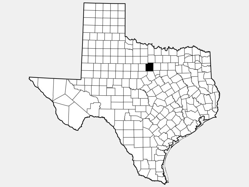 Palo Pinto County locator map