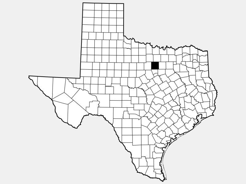 Parker County, TX locator map