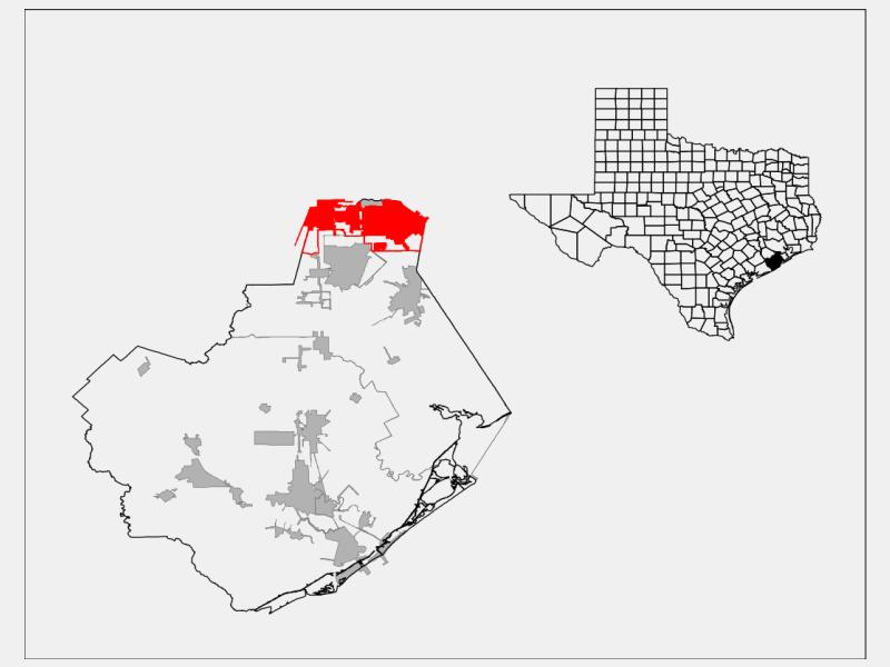 Pearland locator map