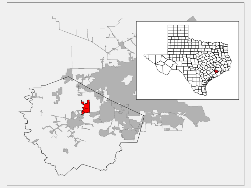 Pecan Grove locator map