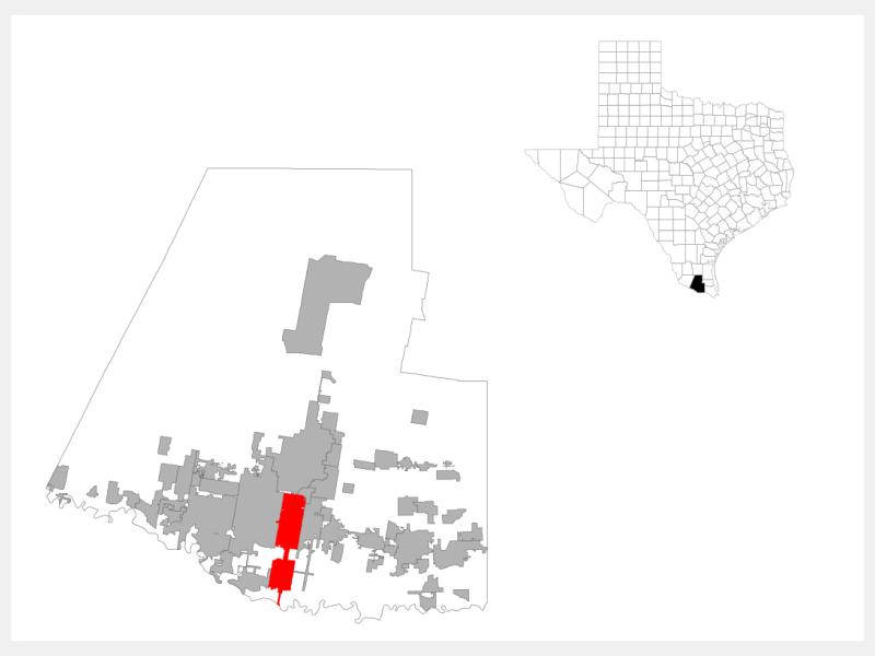 Pharr, TX locator map
