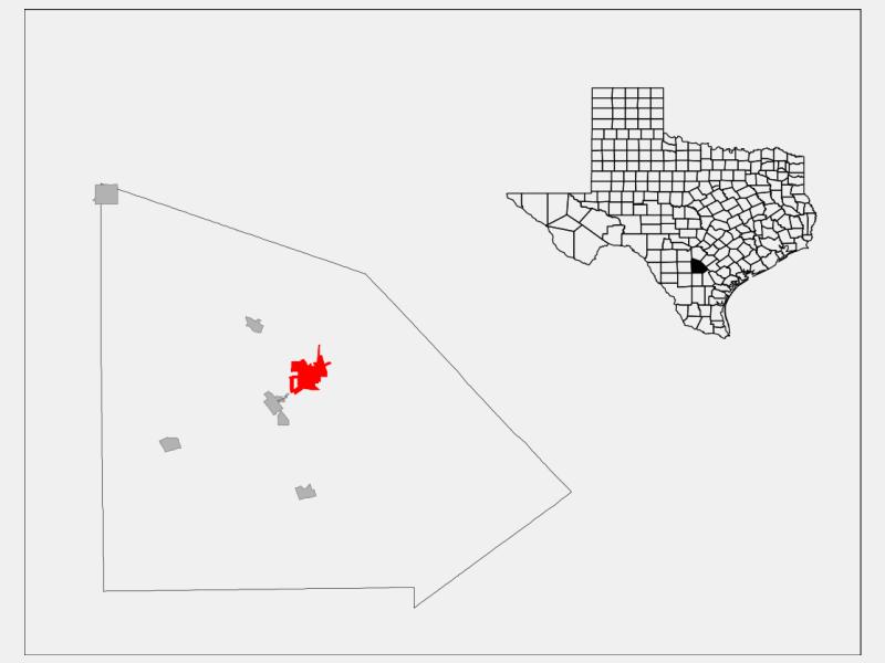 Pleasanton locator map