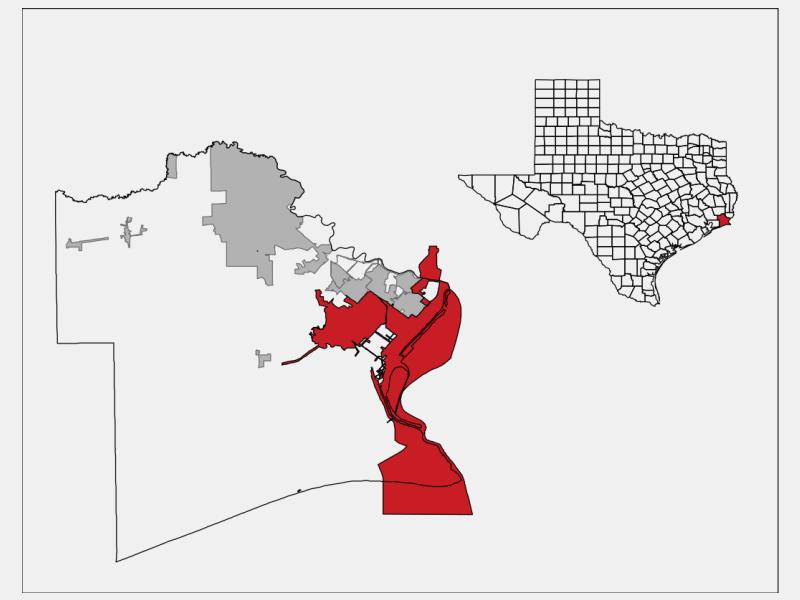Port Arthur, TX locator map