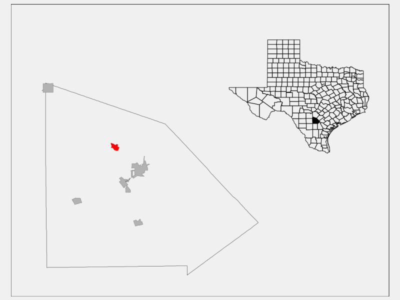 Poteet locator map