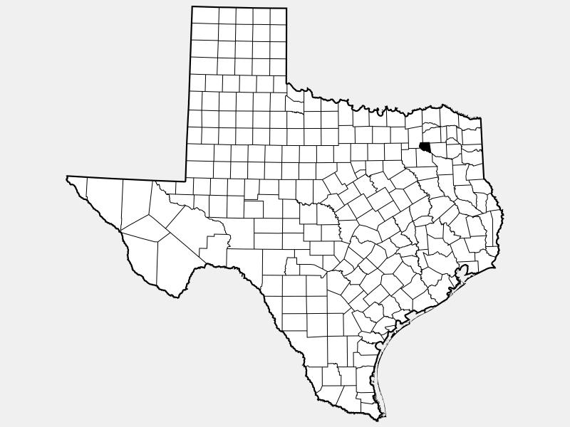 Rains County locator map