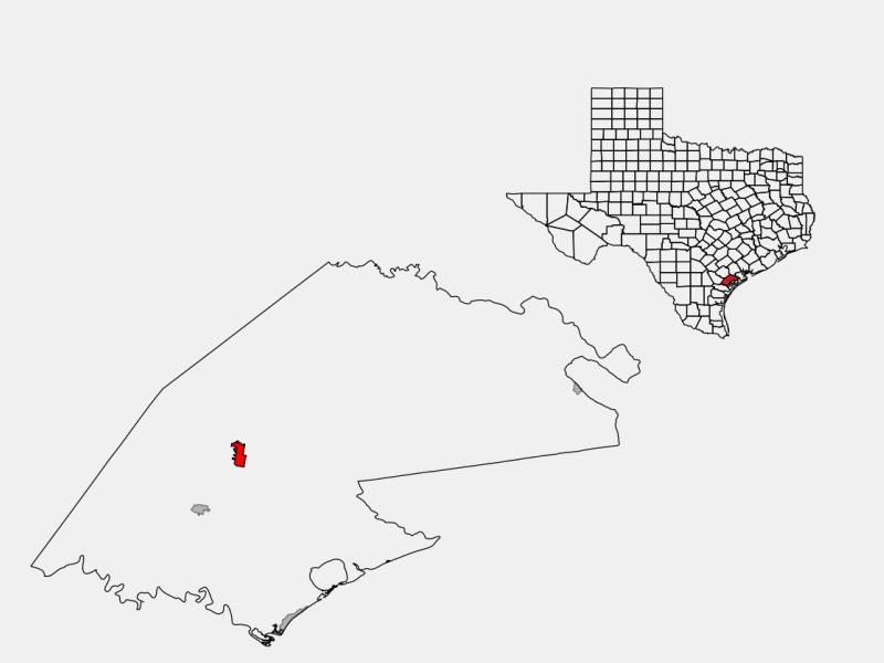 Refugio location map