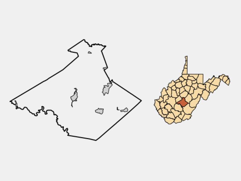Richwood locator map