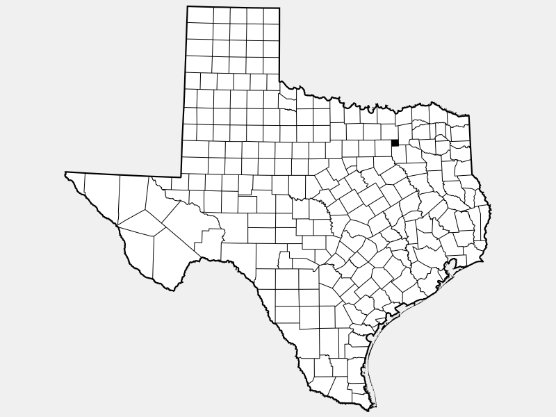 Rockwall County locator map