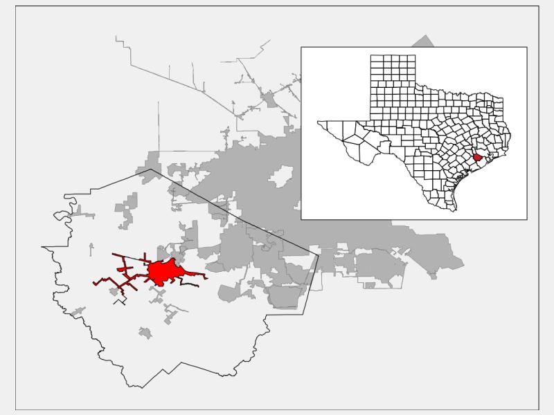 Rosenberg, TX locator map