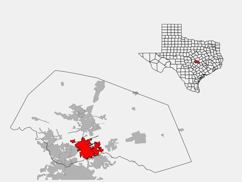 Round Rock locator map