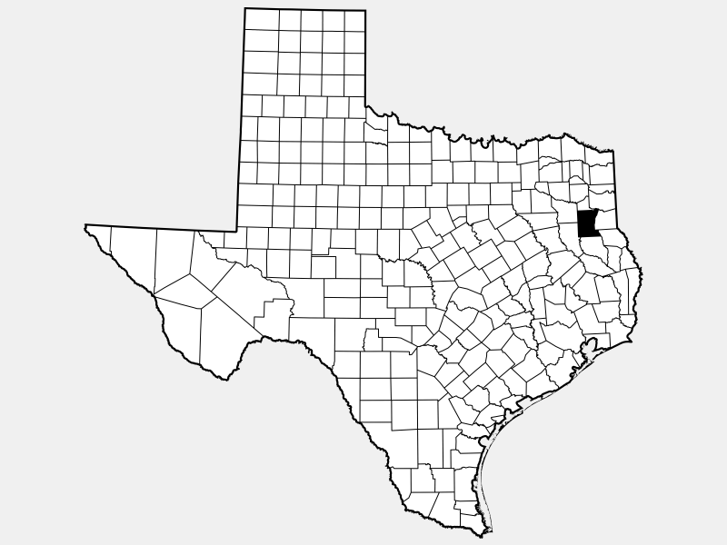 Rusk County locator map