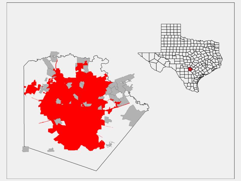 San Antonio locator map