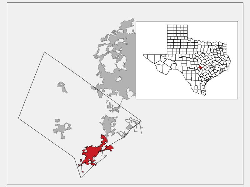 San Marcos, TX locator map