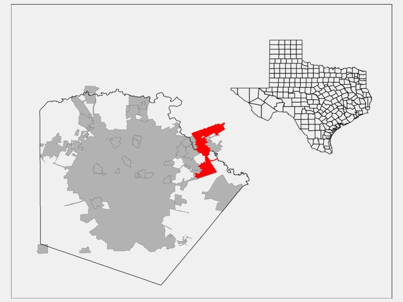 Schertz, TX locator map