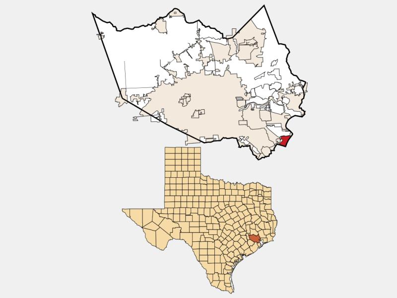 Seabrook locator map