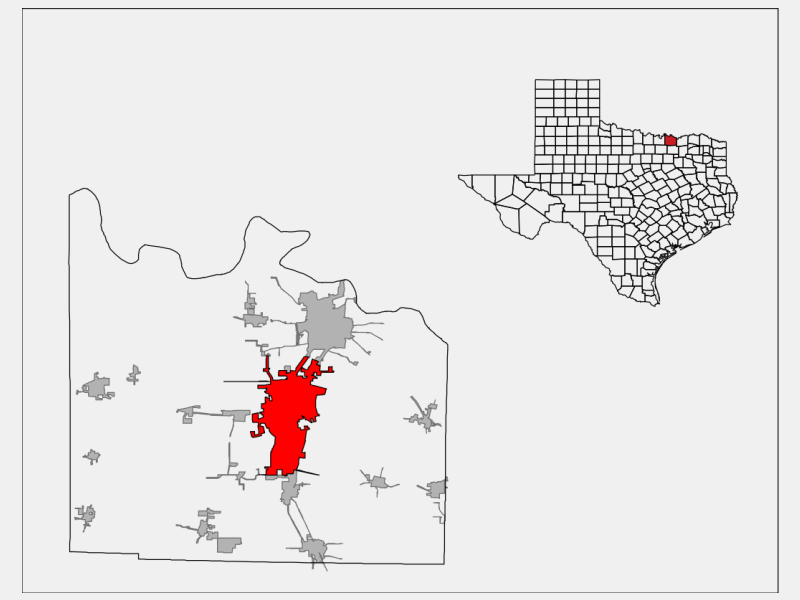 Sherman locator map