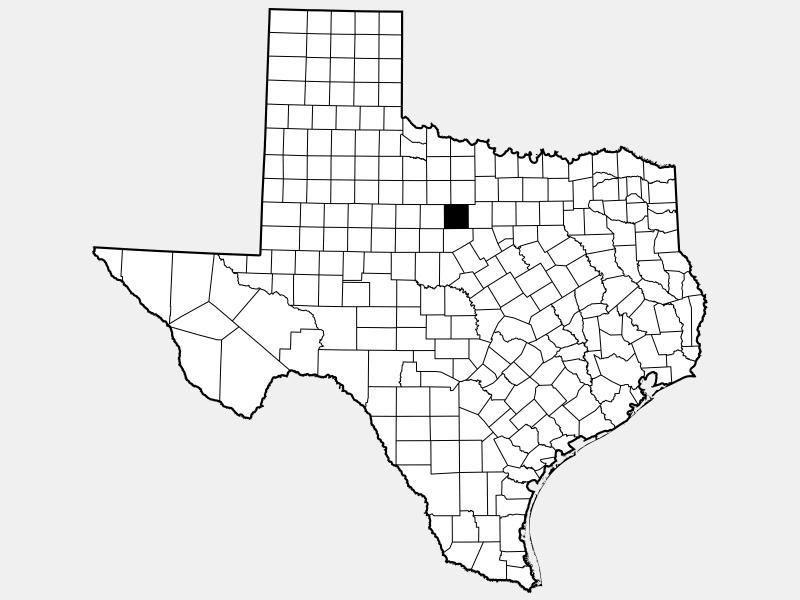 Stephens County locator map