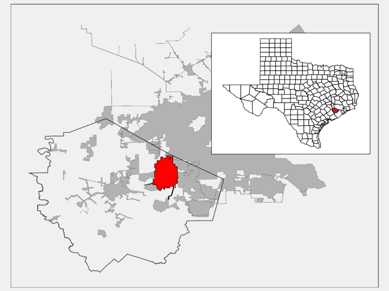 Sugar Land, TX locator map