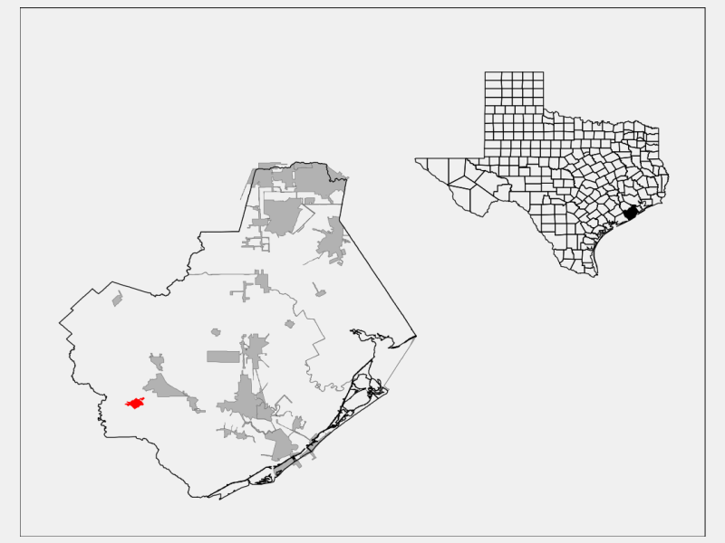 Sweeny locator map
