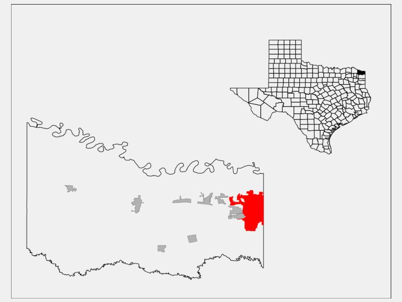 Texarkana locator map