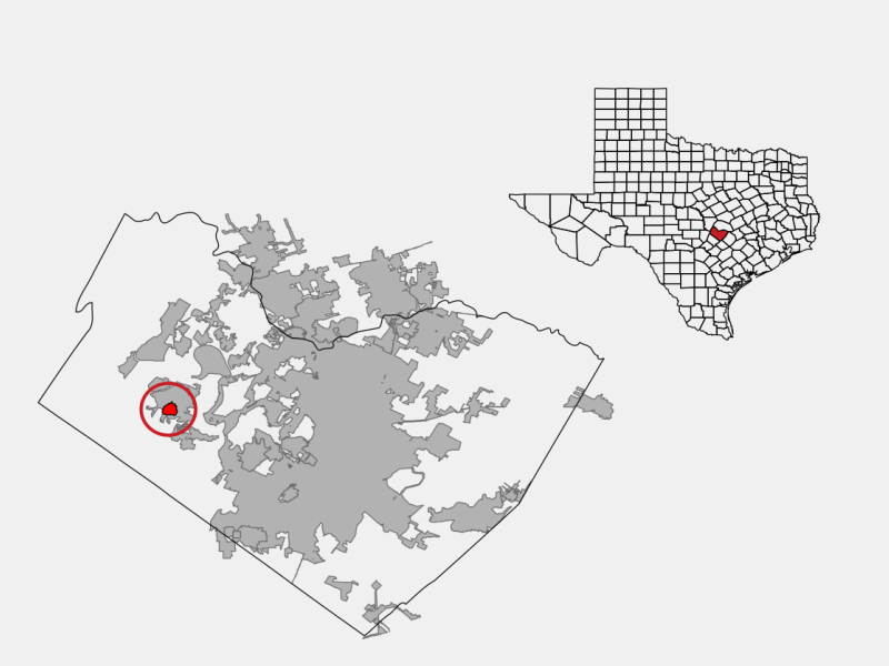 The Hills locator map