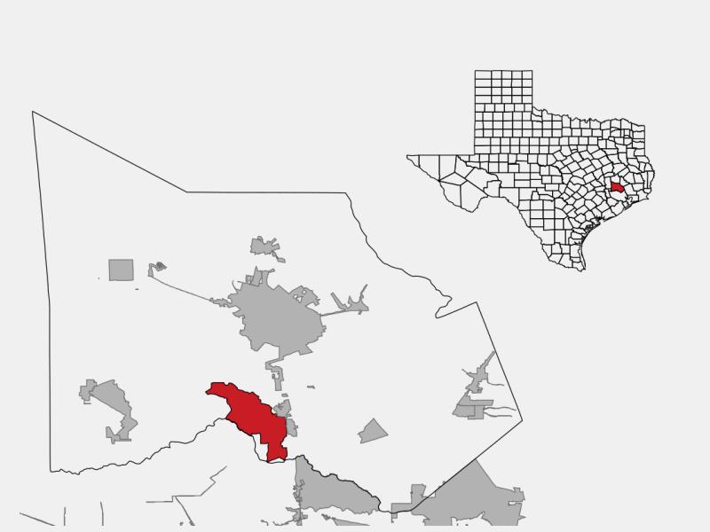 The Woodlands locator map