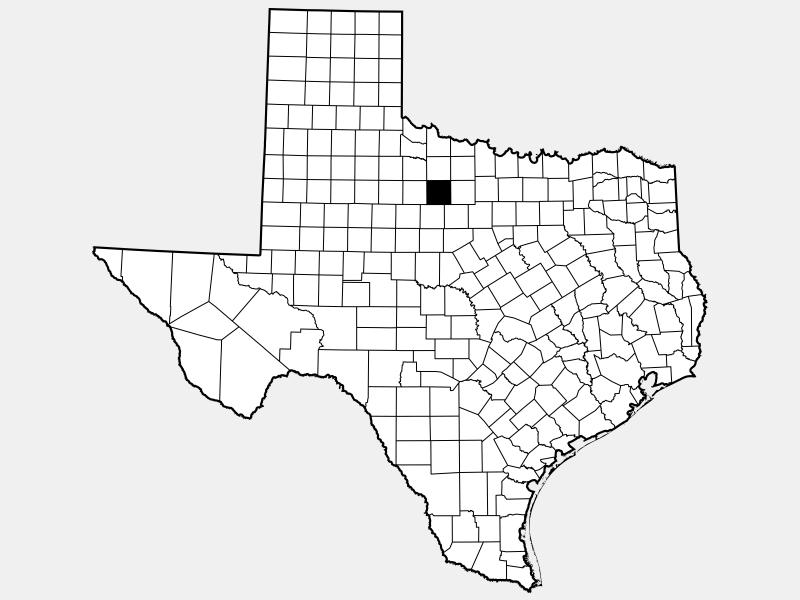 Throckmorton County locator map
