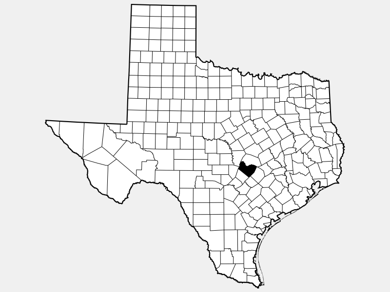 Travis County, TX locator map
