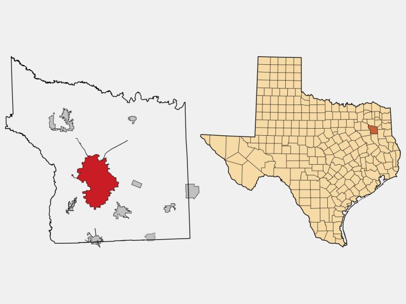 Tyler, TX locator map