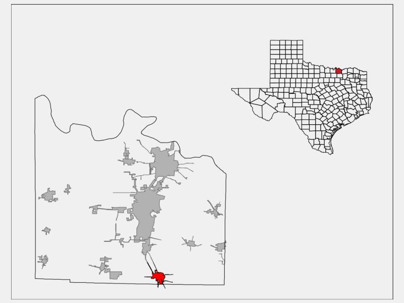 Van Alstyne locator map
